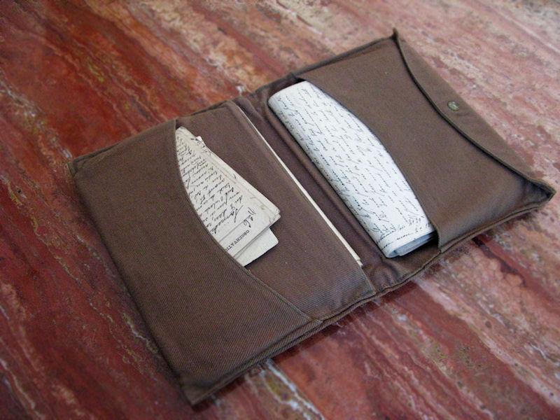 WW1 letter wallet