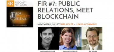 Listen to FIR #7 with Shel Holtz, Ike Pigott, Sharon McIntosh and me