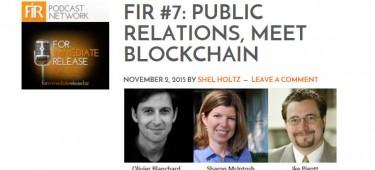 Listen to FIR #7 with Shel Holtz, Ike Pigott, Sharon McIntosh and me